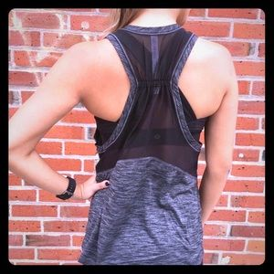 Lululemon Work The Circuit Tank Heathered Gray